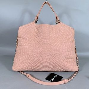 Chanel Cc Pink Leather Satchel